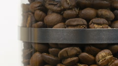 Roasting coffee beans (zoom out) Stock Footage