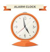 Clock watch alarm vector icon illustration - stock illustration