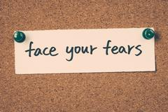 face your fears - stock photo