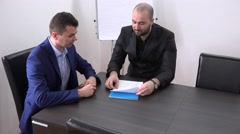 Business meeting long handshake, affairs, service contract discussion, partner - stock footage