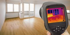 Heat Leak Infrared Detection - stock photo