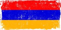 Armenia Vector Flag on White - stock illustration