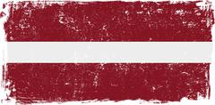 Stock Illustration of Latvia Vector Flag on White