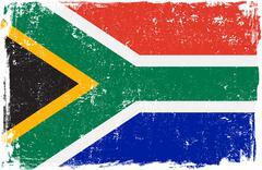 South Africa Vector Flag on White - stock illustration