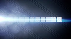 Abstract wave flow background with particles and lens flare animation Stock Footage