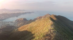 Aerial shot of mountains near the caribbean Stock Footage