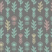 Floral seamless pattern - stock illustration