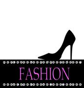 Fashion with black shoe  in the background Stock Illustration