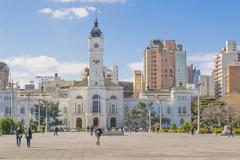 Government Palace at Moreno Square in La Plata Buenos Aires - stock photo