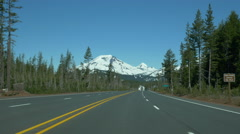 Driving time lapse towards Cascade mountains, near Bend, Oregon - stock footage