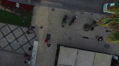 Top View of People Crossing a Street Stock Footage