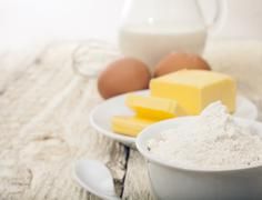 Ingredients for the preparation of bakery products Stock Photos