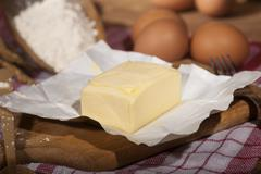 Ingredients for the preparation of bakery products - stock photo