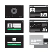 Web Template Form Stock Illustration