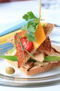 Turkey sandwich - stock photo