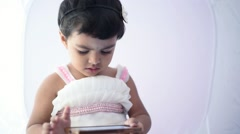 Stock Video Footage of Kid are playing with tablet computer
