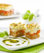 Tasty appetizer on a stylish plate Stock Photos