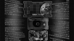 Interface of Advanced Tech - Grey 001 - stock footage