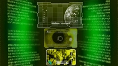 Interface of Advanced Tech - Yellow 001 - stock footage