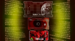 Interface of Advanced Tech - Red 001 - stock footage