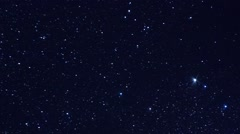 A pan across a starfield background Stock Footage