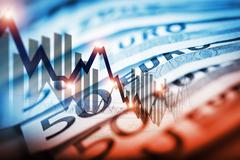 Euro Currency Trading Concept Illustration Stock Illustration
