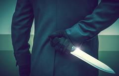Elegant Suit Wearing Psychopathic Murderer Stock Photos