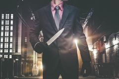Psychopathic Downtown Murderer Stock Photos