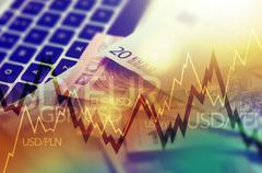 Trading Markets. Forex Currency Trading Concept Stock Illustration