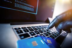 Credit Cards Theft Concept. Stock Photos