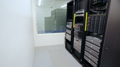 It consultant install blade server in datacenter Stock Footage