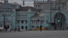 Belorussky railway terminal Stock Footage
