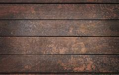 Vintage wooden panel with horizontal planks and gaps - stock photo