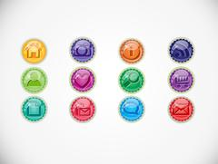 Set with buttons. - stock illustration