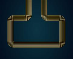 Abstract golden shape. - stock illustration