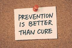 Stock Photo of prevention is better than cure