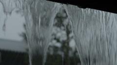 Heavy Rain Flooding Mountain Cabin Roof - 29,97FPS NTSC Stock Footage