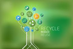 Ecology Infographic. Recycle, Reduce, Reuse - stock illustration