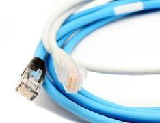 Stock Photo of Color ethernet cables