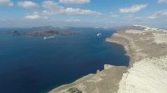 caldera view on santorini island in 4k - stock footage