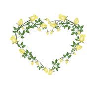 Stock Illustration of Beautiful Yellow Roses Flowers in Heart Shape