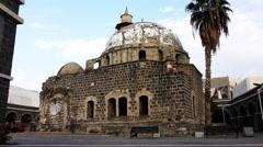 The Great El Omri Mosque, near the Sea of Galilee Stock Footage
