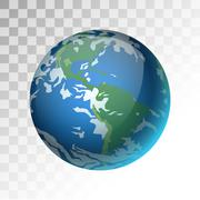 Earth planet 3d vector illustration Stock Illustration