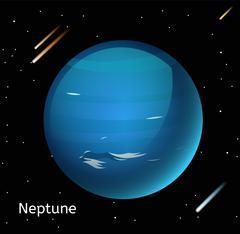 Stock Illustration of Neptune planet 3d vector illustration
