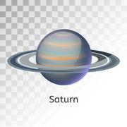 Stock Illustration of Saturn planet 3d vector illustration