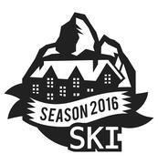 Stock Illustration of Ski resort logo emblems, labels badges vector elements