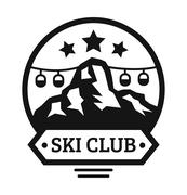 Stock Illustration of Ski resort logo emblems, labels badges vector elements