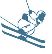 Ski resort logo emblems, labels badges vector elements - stock illustration