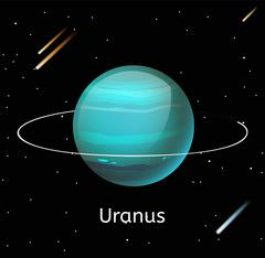Uranus planet 3d vector illustration Stock Illustration