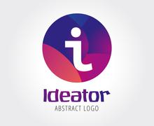 Info abstract logo template - stock illustration